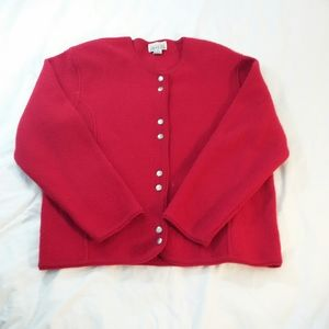 Vintage boiled wool cardigan- Small